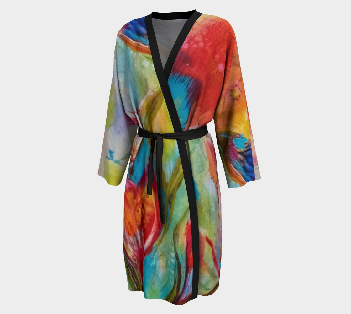 Dancing Blooms - Morning Glory - Comfortable Lounging Robe