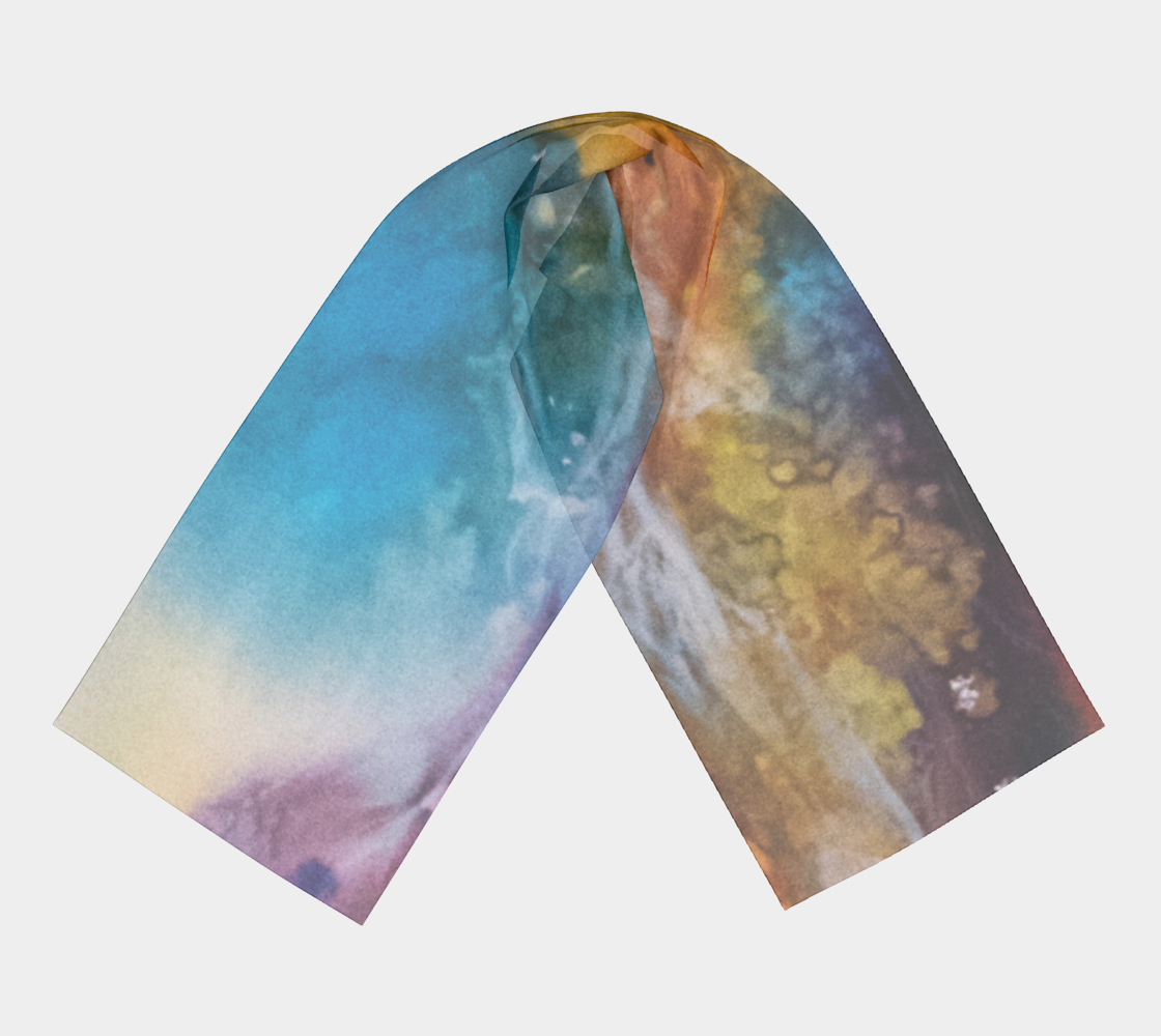 Aquatic Rhythm - Fashion Scarf
