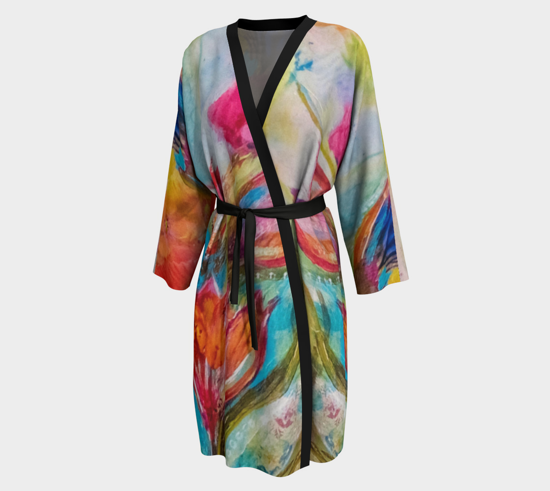 Dancing Blooms - Time to Relax - Comfortable Lounging Robe
