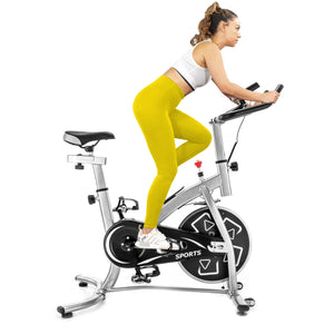 GT Stationary Professional Indoor Cycling Bike S280 Trainer Exercise Bicycle with 24 lbs. Flywheel, Multiple Colors