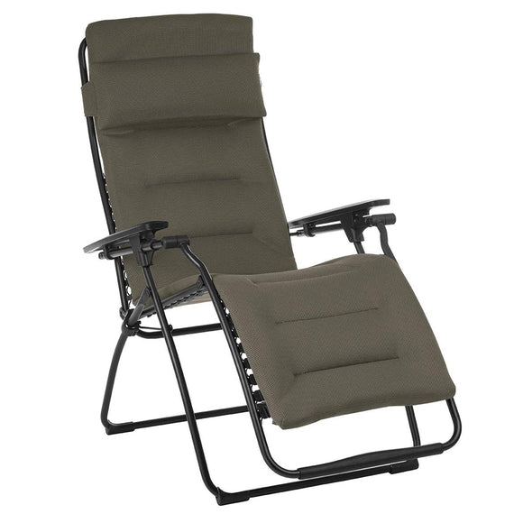Zero Gravity Recliner - Black Frame - Taupe Fabric