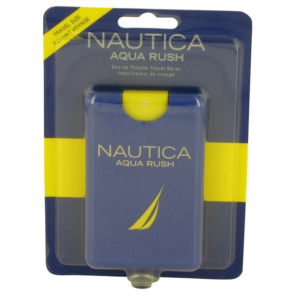 Nautica Aqua Rush by Nautica Eau De Toilette Travel Spray .67 oz for Men