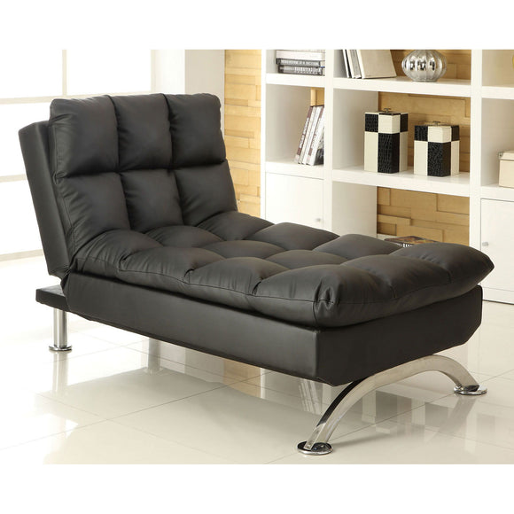 Aristo - Chaise, Black - Black/Chrome