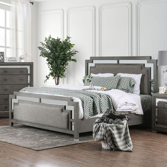Jeanine - 5 Pc. Queen Bedroom Set w/ Chest - Gray