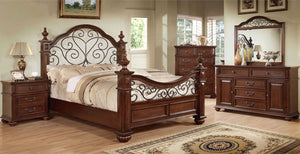 Landaluce - 4 Pc. Queen Bedroom Set - Antique Dark Oak