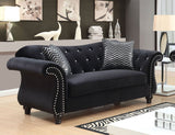Jolanda I - Sofa + Love Seat + Chair - Black