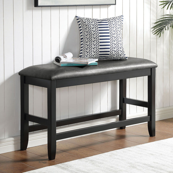 Kearney - Counter Height Bench - Black/Gray