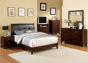 Enrico I - 5 Pc. Queen Bedroom Set w/ Chest - Brown Cherry