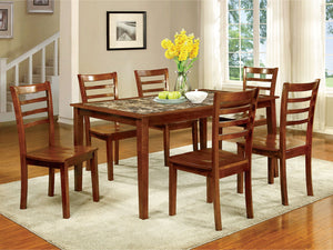 Fordville I - 7 Pc. Dining Table Set - Antique Oak