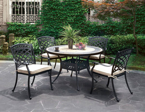 Round Table - Antique Black