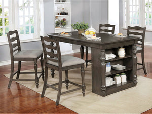 Theresa - 5 Pc. Dining Table Set - Gray