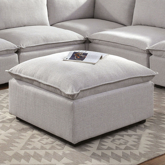Arlene - Ottoman - Light Gray