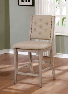 Ledyard - Counter Ht. Side Chair (2/ctn) - Rustic Natural Tone