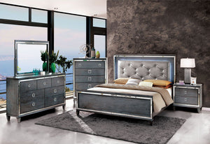 Clover - 5 Pc. Queen Bedroom Set w/ Chest - Gray