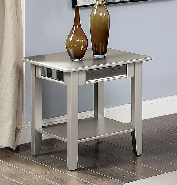 Celestine - End Table - Silver