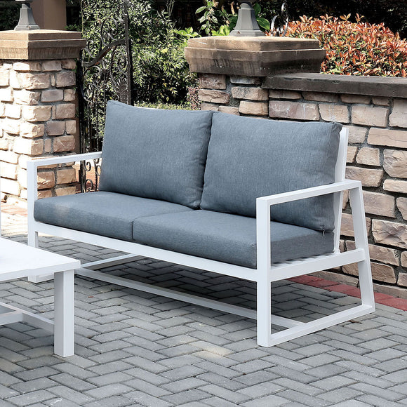 India - Love Seat - Gray by Mundo Click