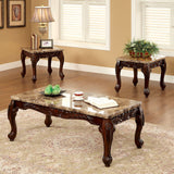 Lechester - 3 Pc. Table Set (1c+2e) - Dark Oak/Ivory