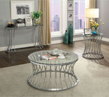 Esme - End Table - Chrome