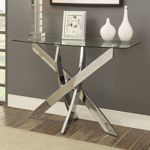Laila - Sofa Table - Chrome