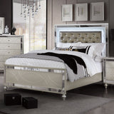 Manar - Cal.King Bed - Silver