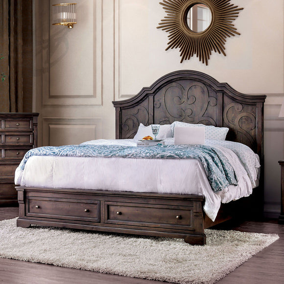 Amadora - Queen Bed - Walnut
