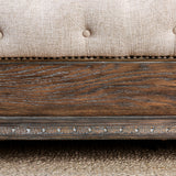 Lysandra - E.King Bed - Beige/Rustic Natural Tone