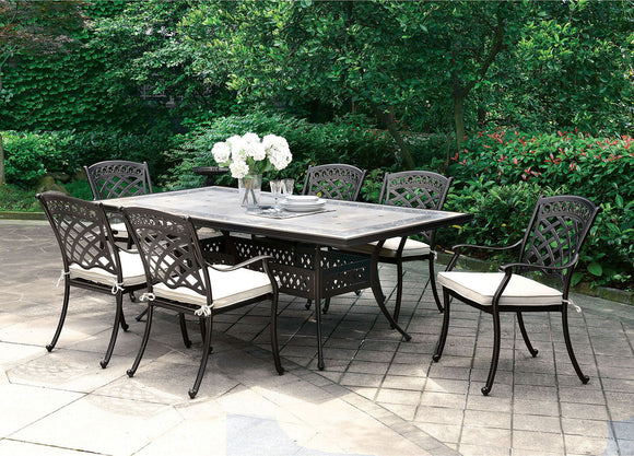 Charissa - Patio Dining Table - Antique Black