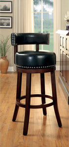"Shirley - 29"" Bar Stool - Dark Oak/Black"