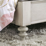 Jakarta - Queen Bed + 1NS + Dresser + Mirror + Chest - Antique White/Beige