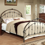 Carta - Queen Bed - Brushed Bronze