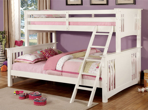 Spring Creek - Twin Xl/queen Bunk Bed - White
