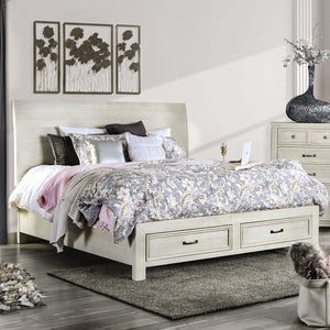 Deann - E.King Bed - Antique White