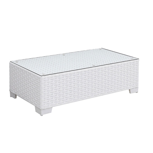 Somani - Coffee Table - White Outdoors Resistant at Mundo Click