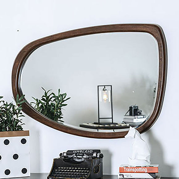 Fulton - Curved Mirror - Dark Oak/Dark Walnut