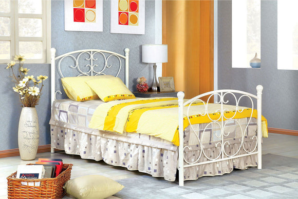 Alice - Twin Bed - White