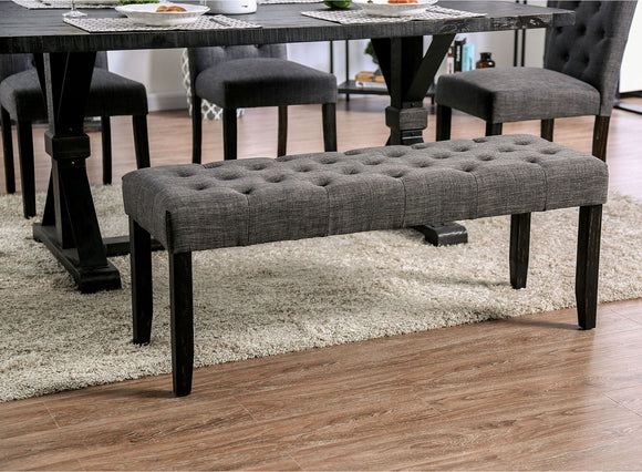 Alfred - Bench - Antique Black/Gray