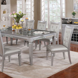 Alena - Dining Table - Silver
