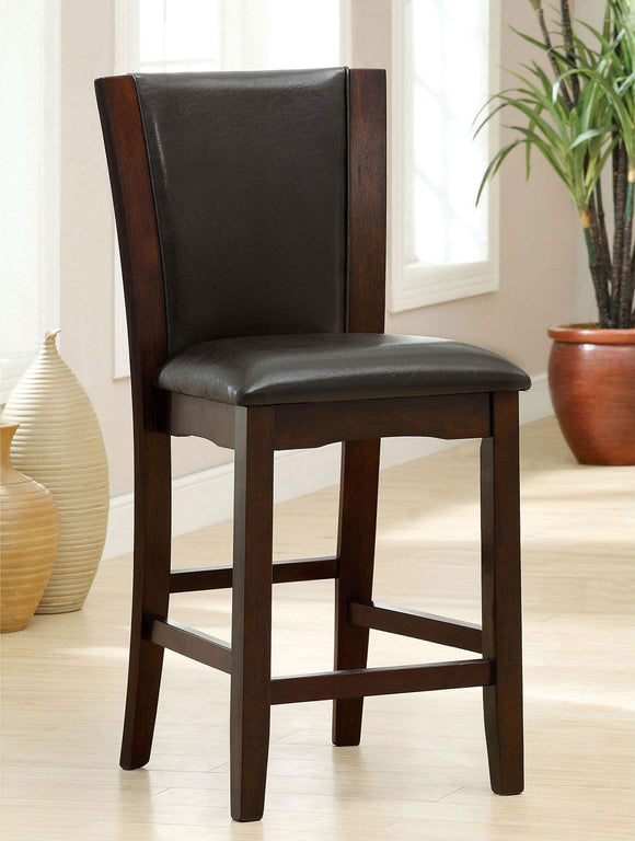Manhattan III - Counter Ht. Chair, Espresso (2/ctn) - Dark Cherry/Brown
