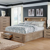 Oakburn - 5 Pc. Queen Bedroom Set w/ Chest - Weathered Warm Gray