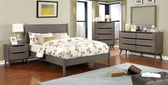 Lennart - 4 Pc. Queen Bedroom Set - Gray