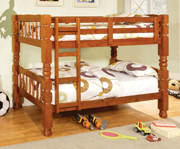 Carolina - Twin/Twin Bunk Bed, Oak