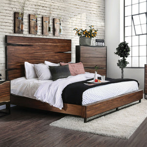 Fulton - 5 Pc. Queen Bedroom Set w/ Chest - Dark Oak/Dark Walnut