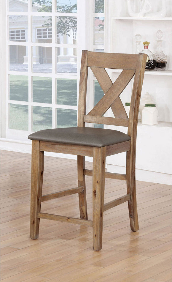 Lana - Counter Ht. Chair (2/ctn) - Weathered Natural Tone/Warm Gray
