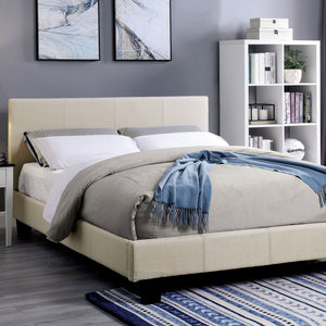 Sims - E.King Bed - Beige