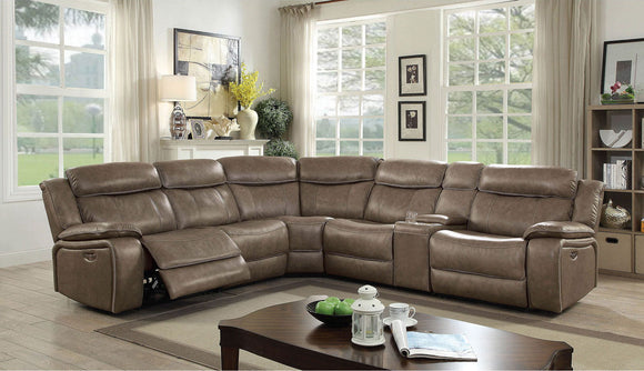 Page - Power Sectional w/ 2 Armless Chairs