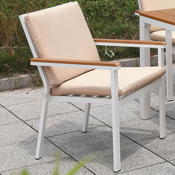 Aisha - Arm Chair (2/CTN) - White