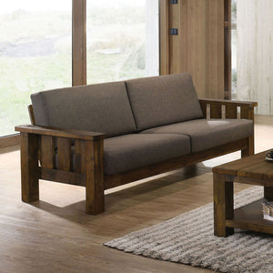 Laura - Sofa - Antique Oak/Dark Brown