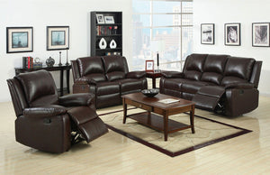 Oxford - Sofa + Love Seat - Rustic Dark Brown