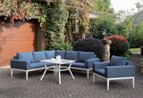Sharon - Sectional - White/Blue
