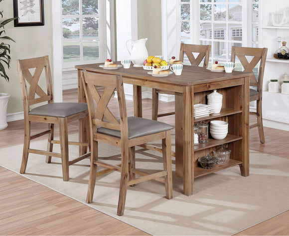Lana - Counter Ht. Table - Weathered Natural Tone/Warm Gray